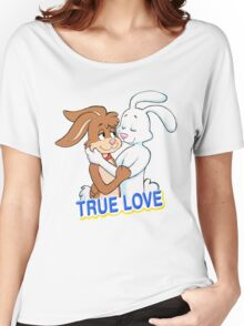 TRUE LOVE NESQUIK TRIX RABBITS  Women's Relaxed Fit T-Shirt