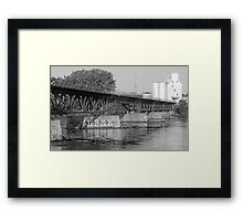 North Minneapolis Along The River Framed Print