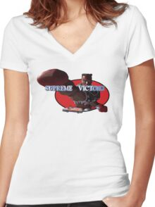 Combo's Supreme Victory! Women's Fitted V-Neck T-Shirt