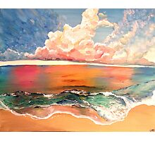 Acrylic Beach Photographic Print