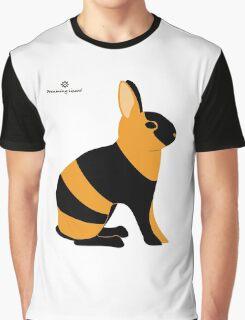 Black Japanese Rabbit Graphic T-Shirt