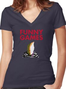 Funny Games Bag Boy Women's Fitted V-Neck T-Shirt