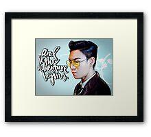 "BIG BANG T.O.P ""HUSTLER"" Framed Print"