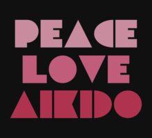 Peace Love Aikido Kids Tee