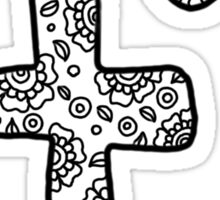 zentangle f: black/white Sticker