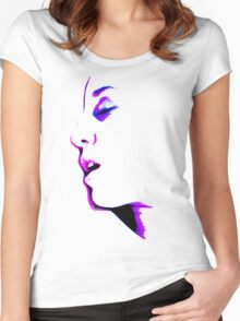 When You're Not Here - erotic nude sexy valentine love romance calm awesome beautiful Women's Fitted Scoop T-Shirt