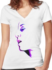 When You're Not Here - erotic nude sexy valentine love romance calm awesome beautiful Women's Fitted V-Neck T-Shirt