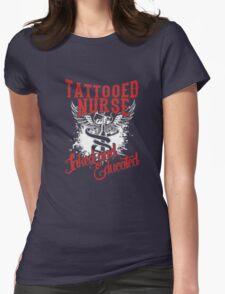 tattooed nurse Womens Fitted T-Shirt