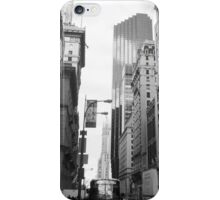 New York City Manhattan Grayscale Photograph iPhone Case/Skin