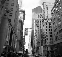 New York City Manhattan Grayscale Photograph by Nawgyal