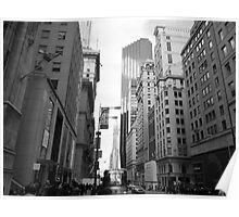 New York City Manhattan Grayscale Photograph Poster