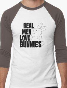 Real Men Love Bunnies Men's Baseball ¾ T-Shirt