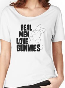 Real Men Love Bunnies Women's Relaxed Fit T-Shirt