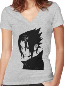 Sasuke Uchiha Women's Fitted V-Neck T-Shirt