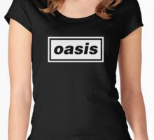 Oasis Logo Women's Fitted Scoop T-Shirt