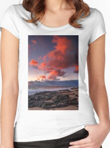 Rocky Sunset Women's Fitted Scoop T-Shirt