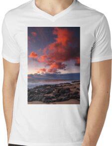 Rocky Sunset Mens V-Neck T-Shirt