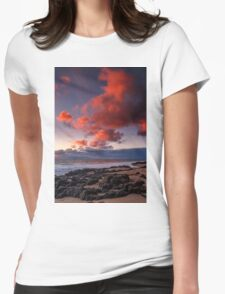 Rocky Sunset Womens Fitted T-Shirt
