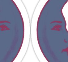 2 Moons Sticker