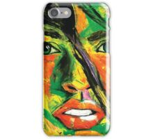 Abstract Womens Face iPhone Case/Skin