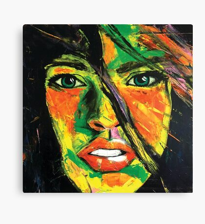 Abstract Womens Face Canvas Print