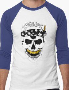Flatbush Zombies White Skull Tee Men's Baseball ¾ T-Shirt