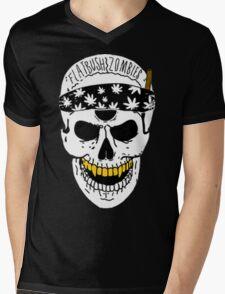 Flatbush Zombies White Skull Tee Mens V-Neck T-Shirt
