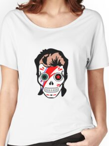 Bowie Sugar Skull Women's Relaxed Fit T-Shirt