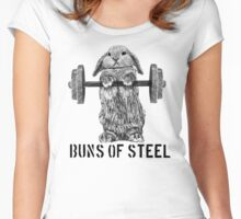 Buns of Steel (Light) Women's Fitted Scoop T-Shirt