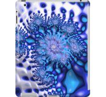Psychedelic Blue White Frax Fine Fractal Art iPad Case/Skin