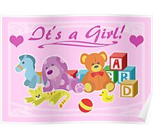 Cute Dolls (Pink) Poster