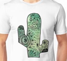 Funky Watercolor Cactus Zentangle Unisex T-Shirt