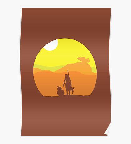 Rey on Jakku - Minimal  Poster