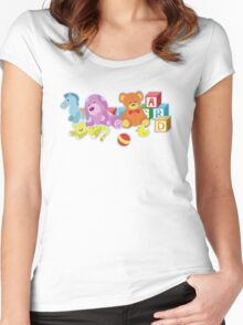 Cute Dolls (Blue) Women's Fitted Scoop T-Shirt