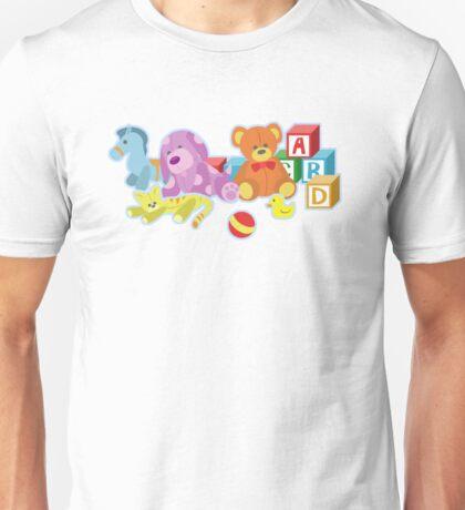 Cute Dolls (Blue) Unisex T-Shirt