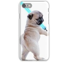 Pug with Lightsaber iPhone Case/Skin