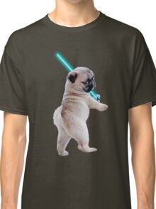 Pug with Lightsaber Classic T-Shirt