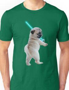 Pug with Lightsaber Unisex T-Shirt