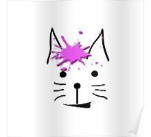 """""""Ice Cream Cat"""" abstract Poster"""