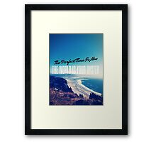 The World is your Oyster Graphic Design Framed Print