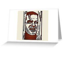 "The Shining ""Carpet Face"" Greeting Card"