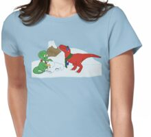 Prehistoric Snow Day Womens Fitted T-Shirt