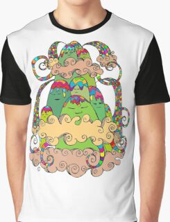 Magic  Mountain Color Graphic T-Shirt
