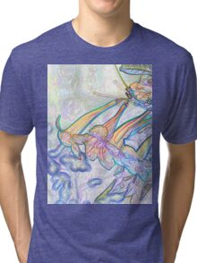Abstract Beautiful Orchid In Pastel Colors Take 8 Tri-blend T-Shirt