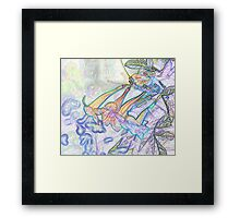 Abstract Beautiful Orchid In Pastel Colors Take 8 Framed Print