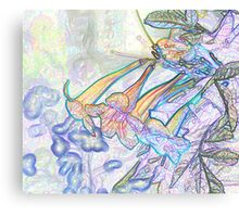 Abstract Beautiful Orchid In Pastel Colors Take 8 Canvas Print