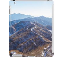 Winter, The Great Wall of China iPad Case/Skin