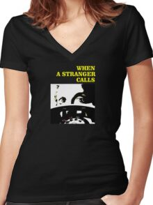 When a Stranger Calls Women's Fitted V-Neck T-Shirt