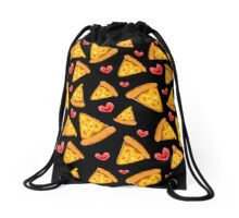 """Who needs friends when you have pizza"" Drawstring Bag"