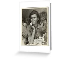 Migrant Mother Greeting Card
